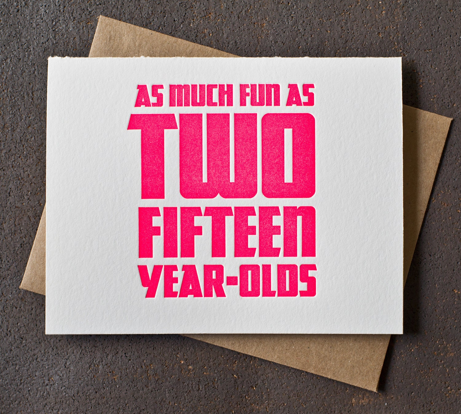 Wedding Gift For 30 Year Olds : 30th Birthday Card Neon Pink Fun As Two Fifteen Year by BSandRS