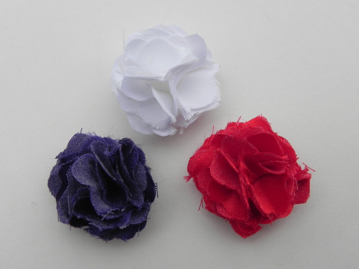 3 e inch Lapel flowers White Red and by TheSharpDressedMan