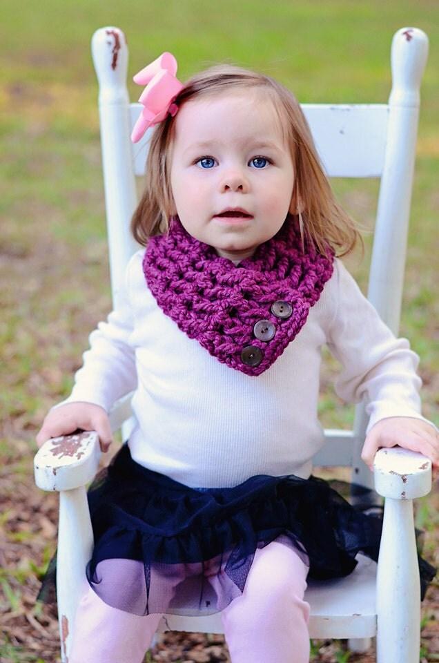 purple plum scarflette brown button scarf by twoseasidebabes