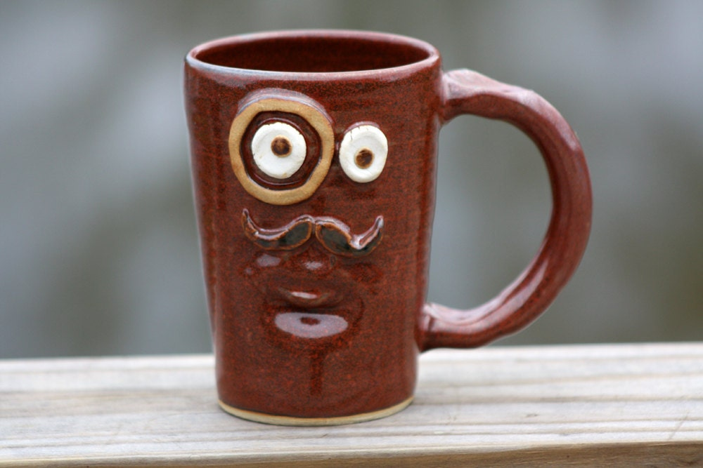 Red Coffee Mug LEFT HANDED MUG