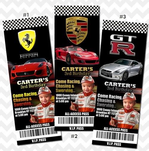Super Car, Sports Car, Racing Cars Invitation, Cars Themed