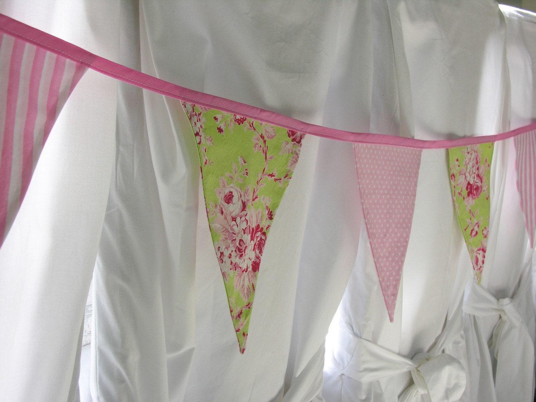 Shabby Chic Fabric Bunting Garland