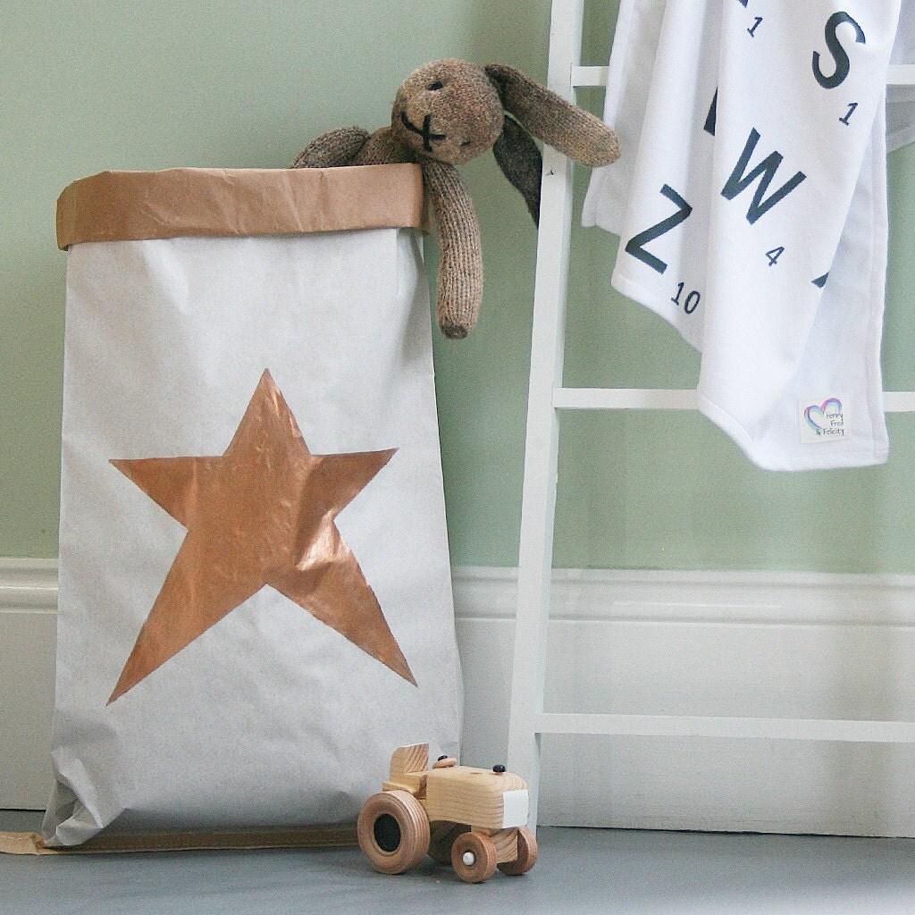 Personalised Star Storage Sack  Toy Storage Bag  Star Toy Storage  Personalised Toy Storage  Star Nursery Storage  Gender Neutral