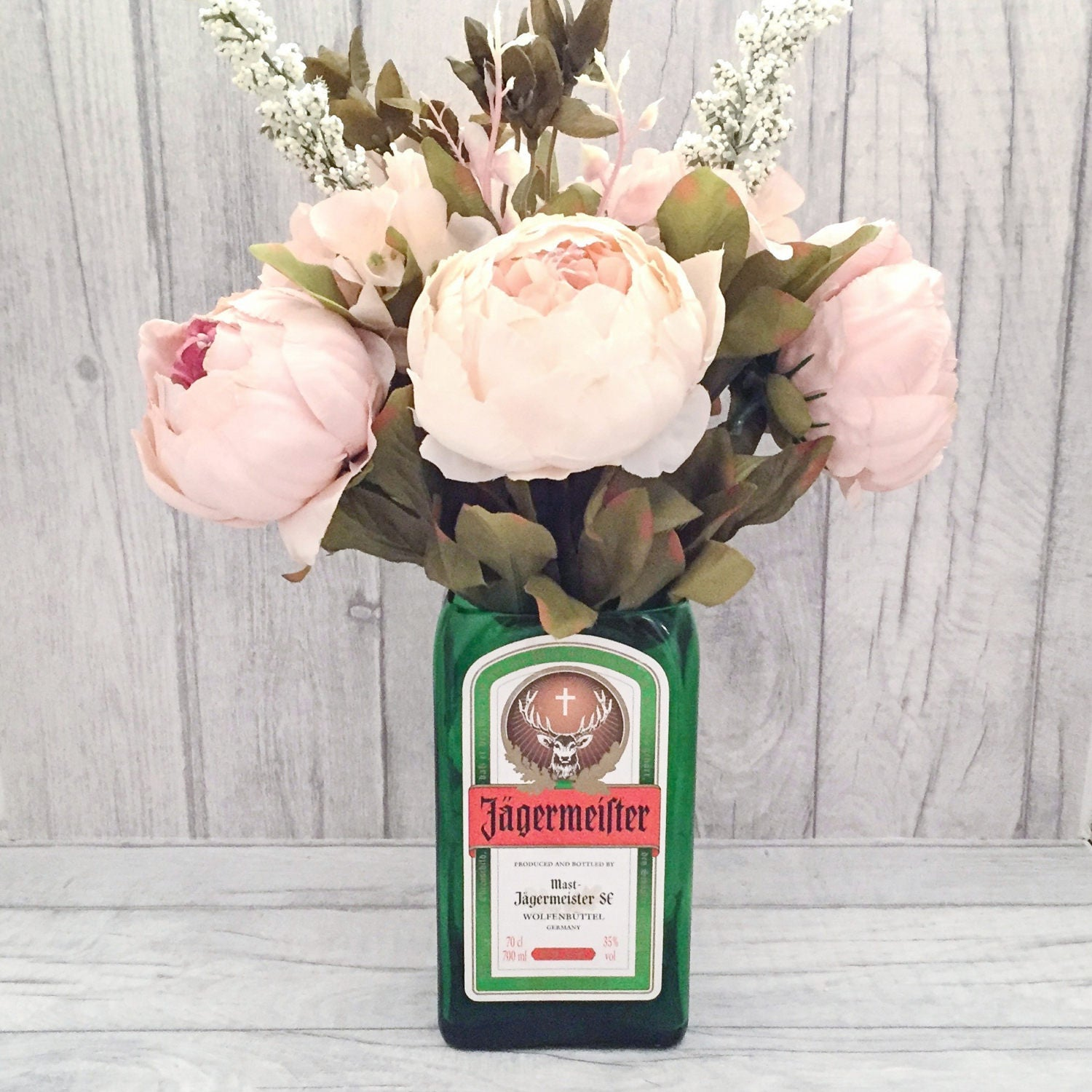 Jagermeister Vase (Recycled Bottle)