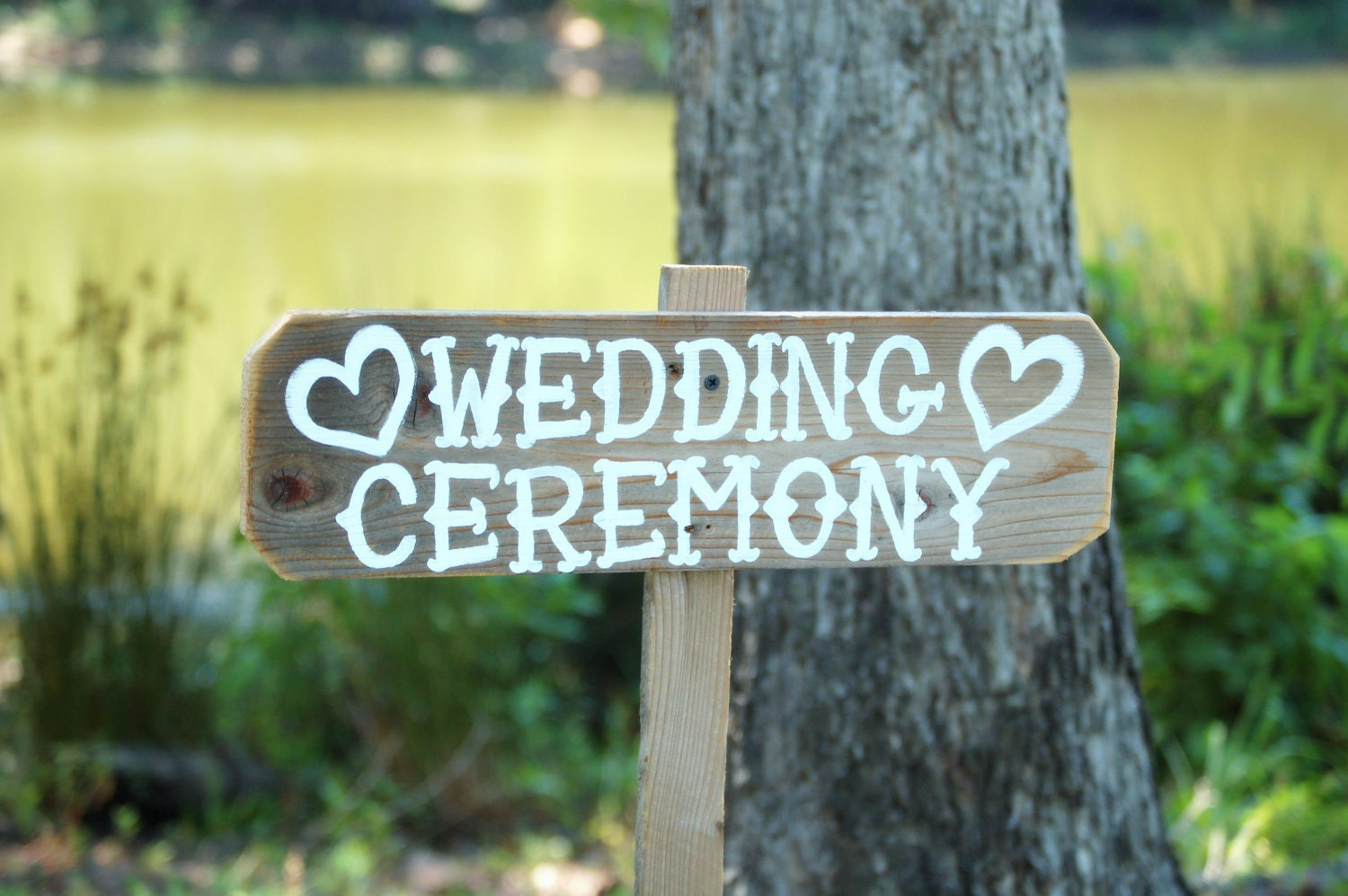 Country Wedding Ceremony Sign Recycled Wood By TRUECONNECTION