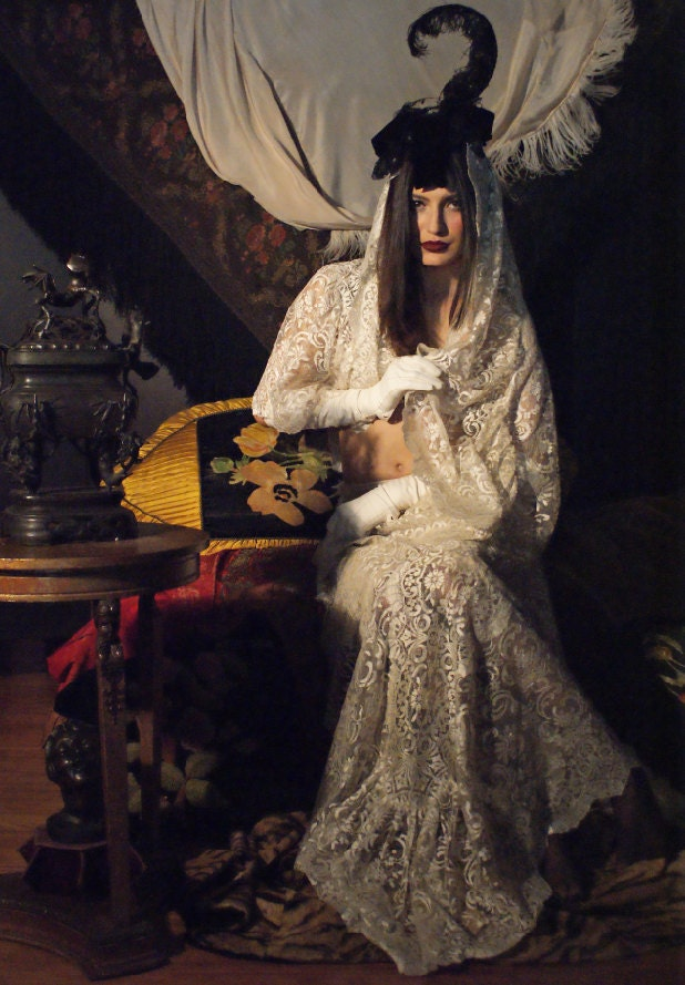 Ode to Irina Ionesco Victorian early Edwardian Topper Hat headband bonnet - BoudoirQueen