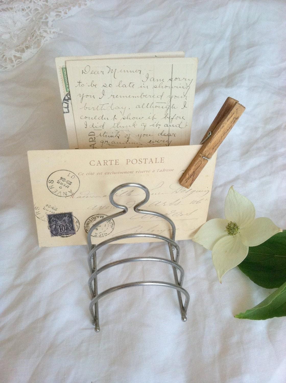 vintage wire letter holder eBay