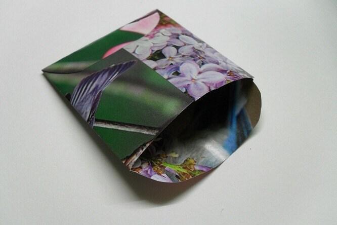 Handmade Spring Envelopes, Flower & Bird