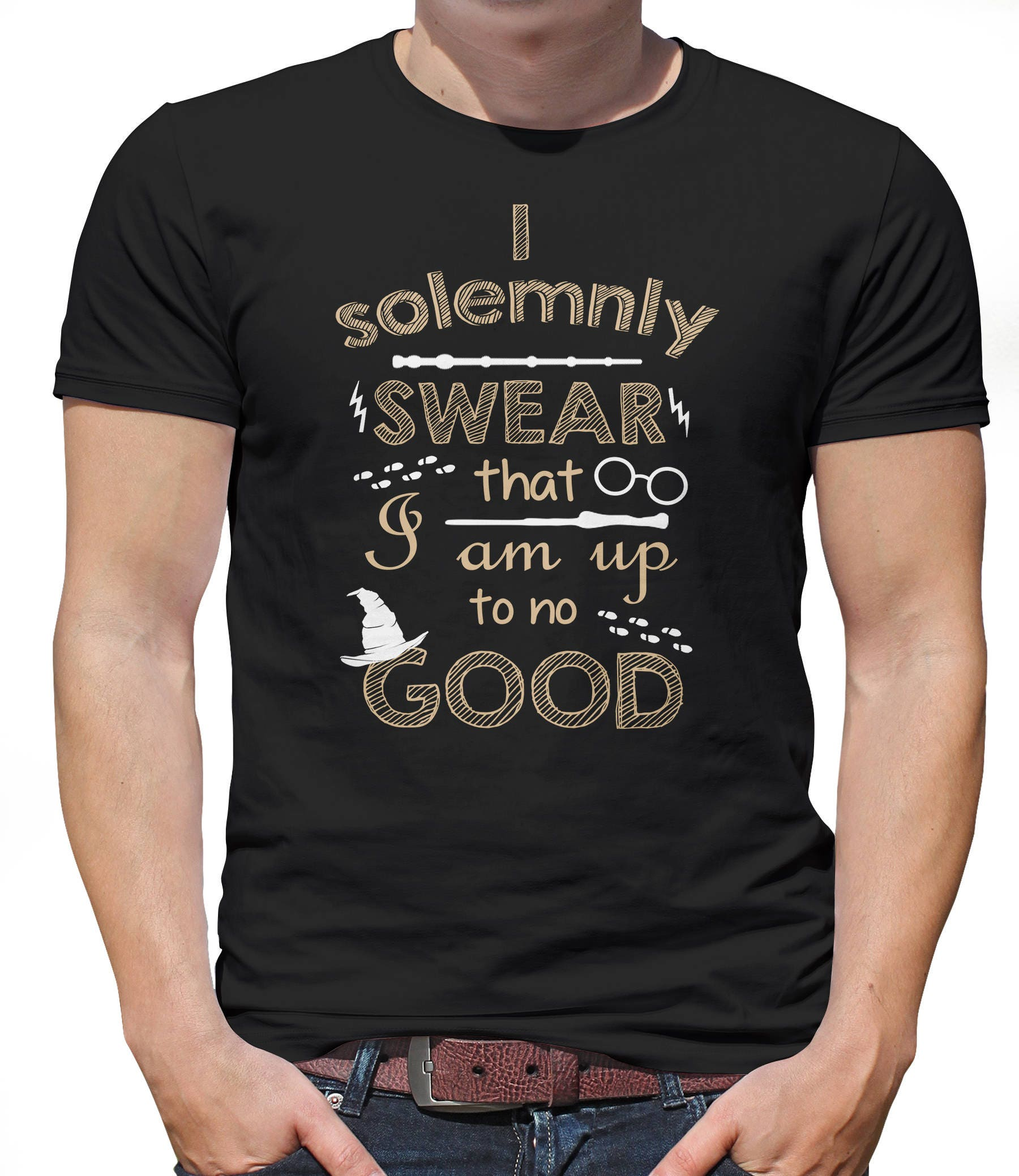 I Solemnly Swear That I Am Up To No Good Harry Potter High Quality Print Tee Shirt
