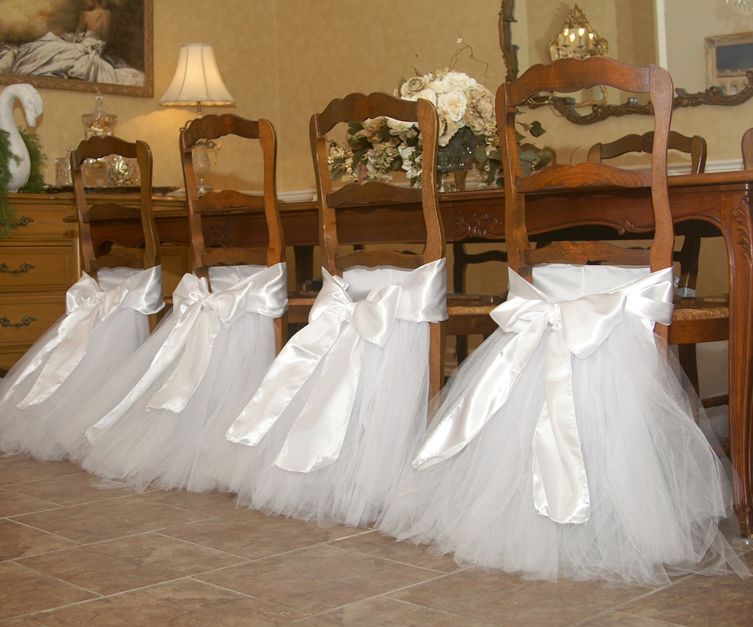 Handcrafted chair tutus for your wedding or by ...