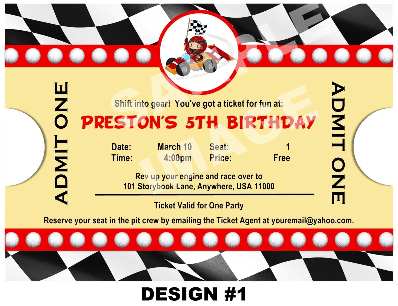 40th Birthday Ideas Free Race Car Birthday Invitation Templates