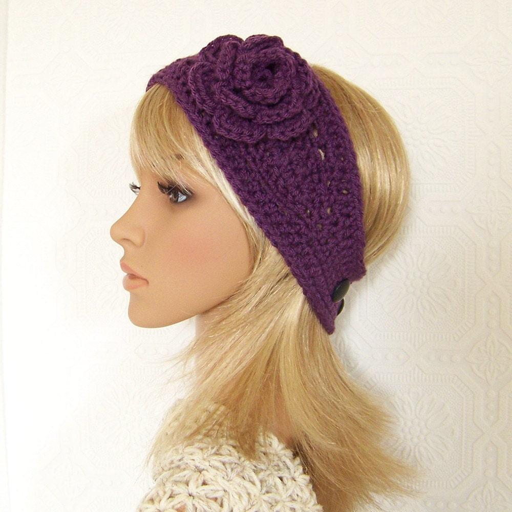 Crochet Patterns Ear Warmer Headband : Crochet headband headwrap ear warmer by SandyCoastalDesigns