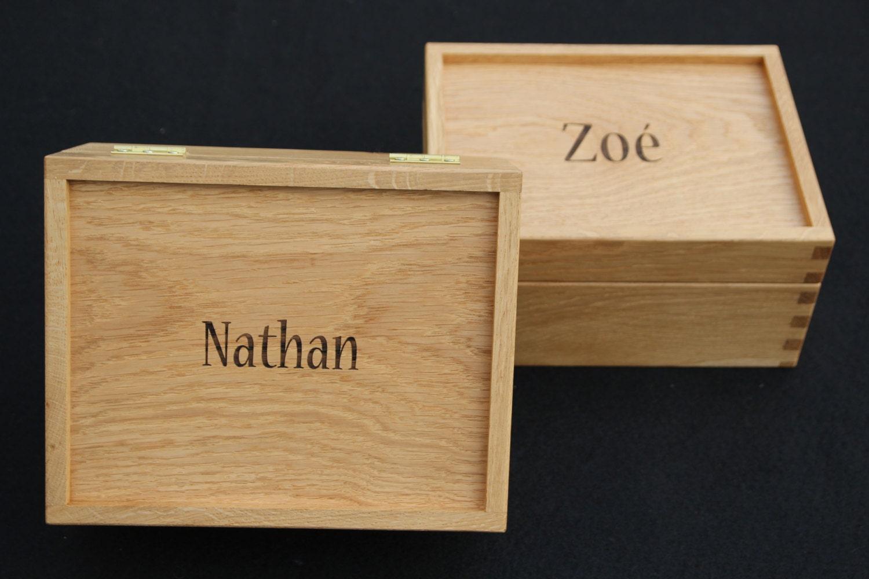 Scottish Oak Memory box trinket box keepsake box jewellery box oak box