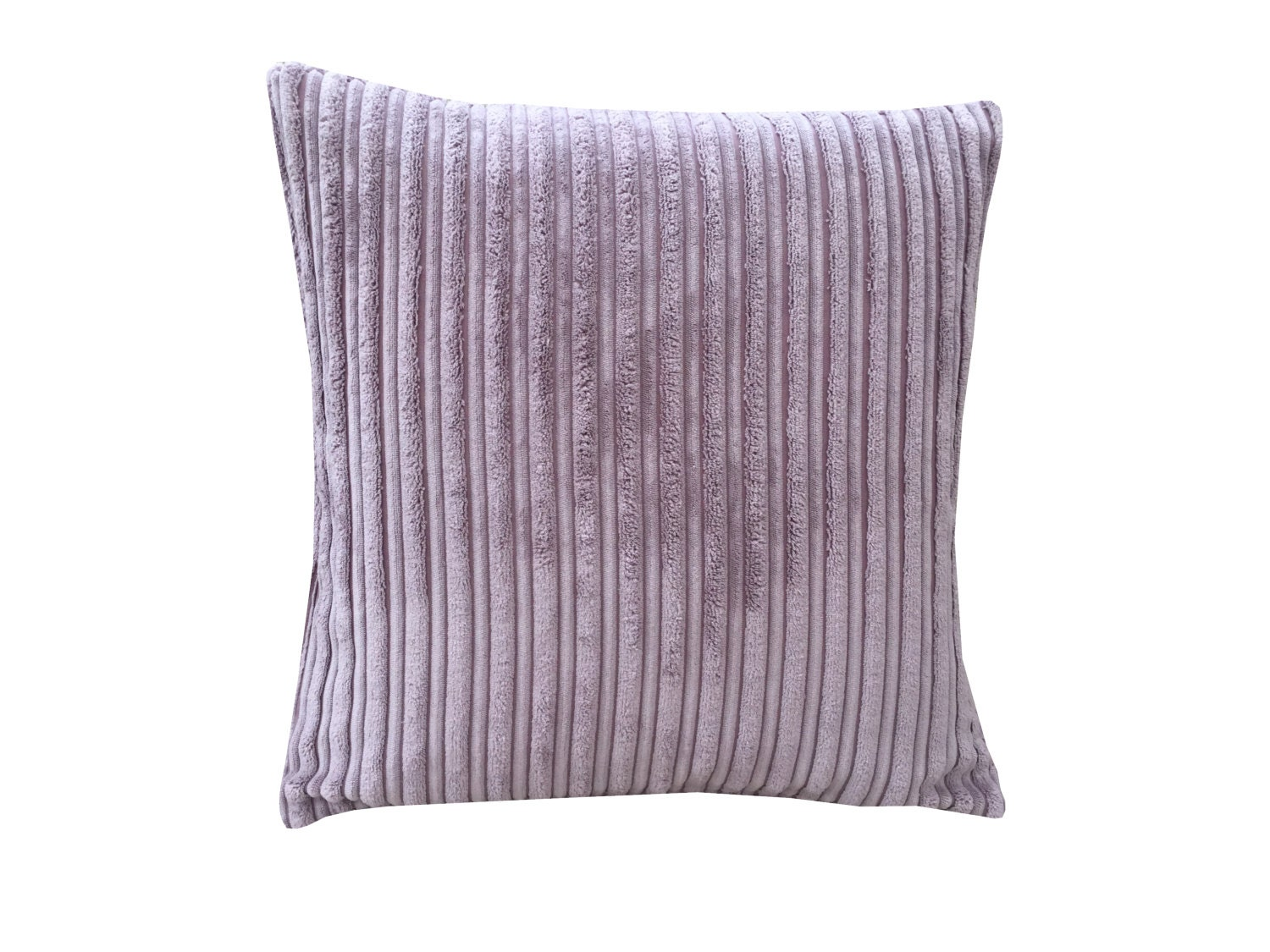 Cushion cover pillow case Lilac Plum Mauve ribbed design John Lewis Designer Fabric soft fleece feel ideal for all homes one size 16