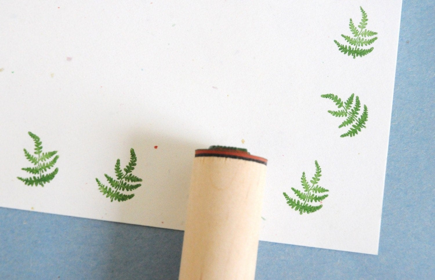 Whispy Fern Solid Rubber Stamp - norajane