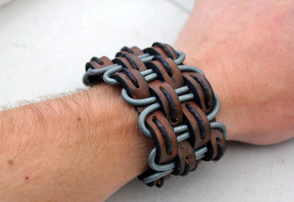 Браслет из кожаных шнурков своими руками для мужчин - МБДОУ детский сад 24