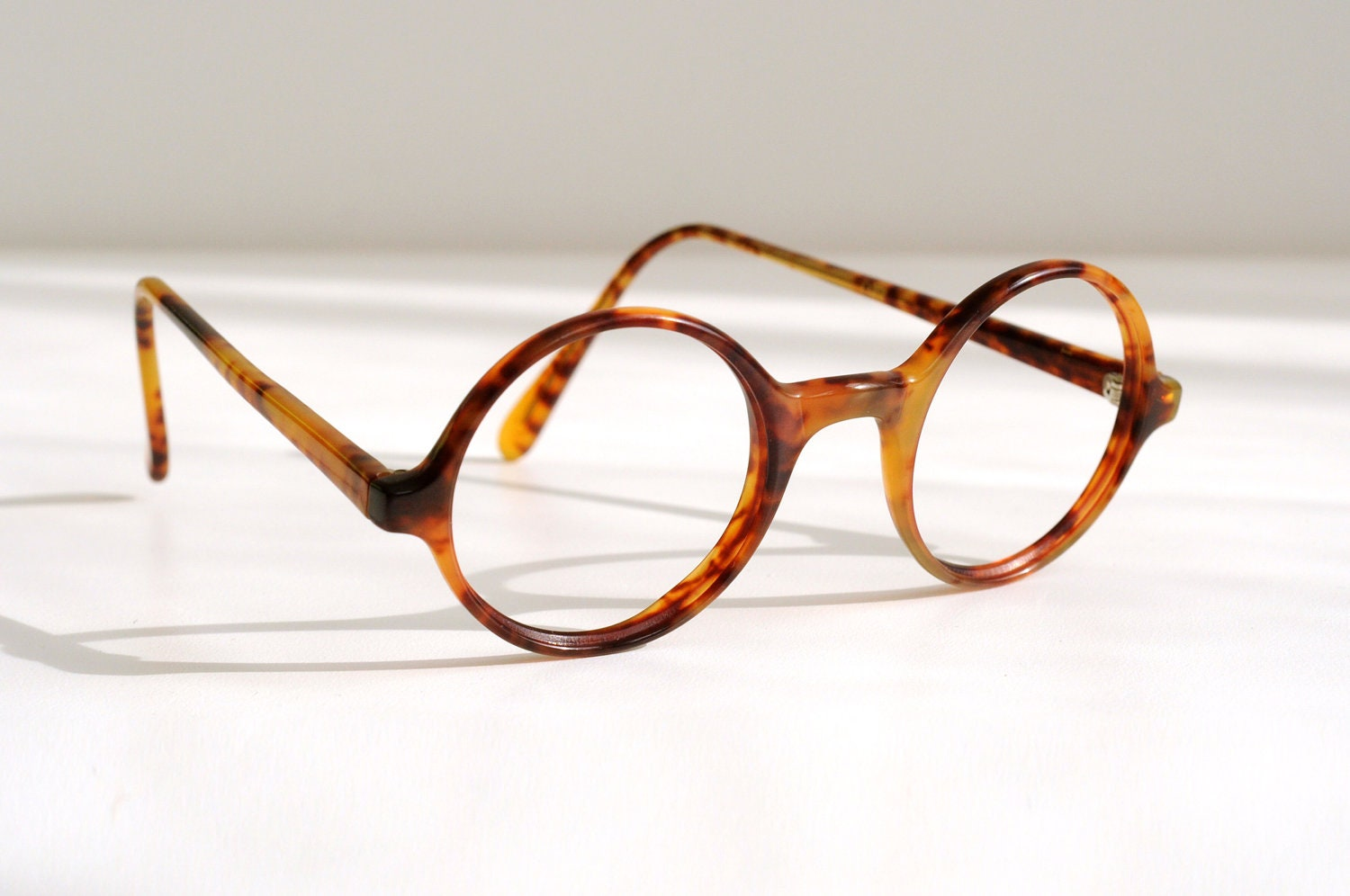 small glasses tortoise shell 80s polo by