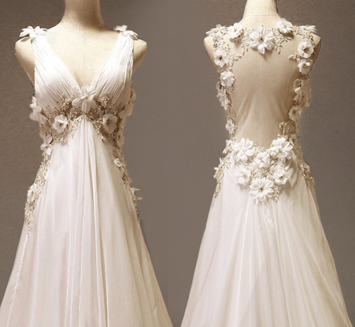 Vintage Chiffon Wedding Dress