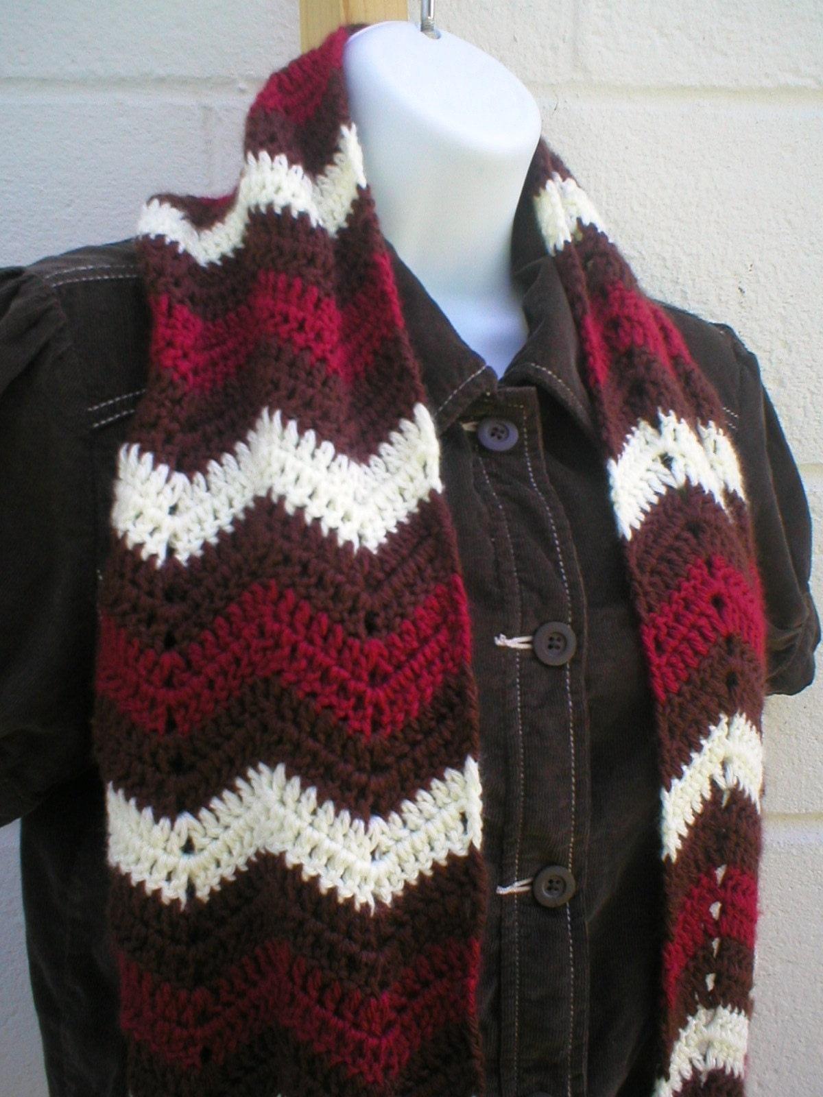 Zig Zag Scarf Crochet Pattern PDF by LazyTcrochet on Etsy