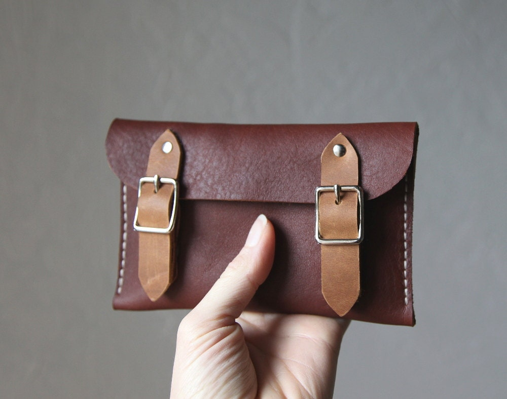 Leather Buckle Wallet // 2-Tone - infusion