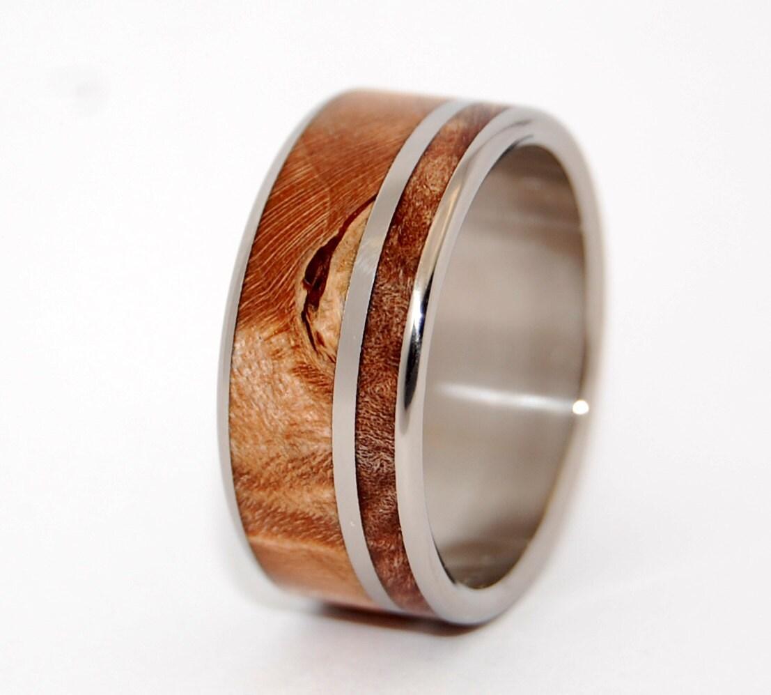 two solitudes wooden wedding rings by minterandrichterdes