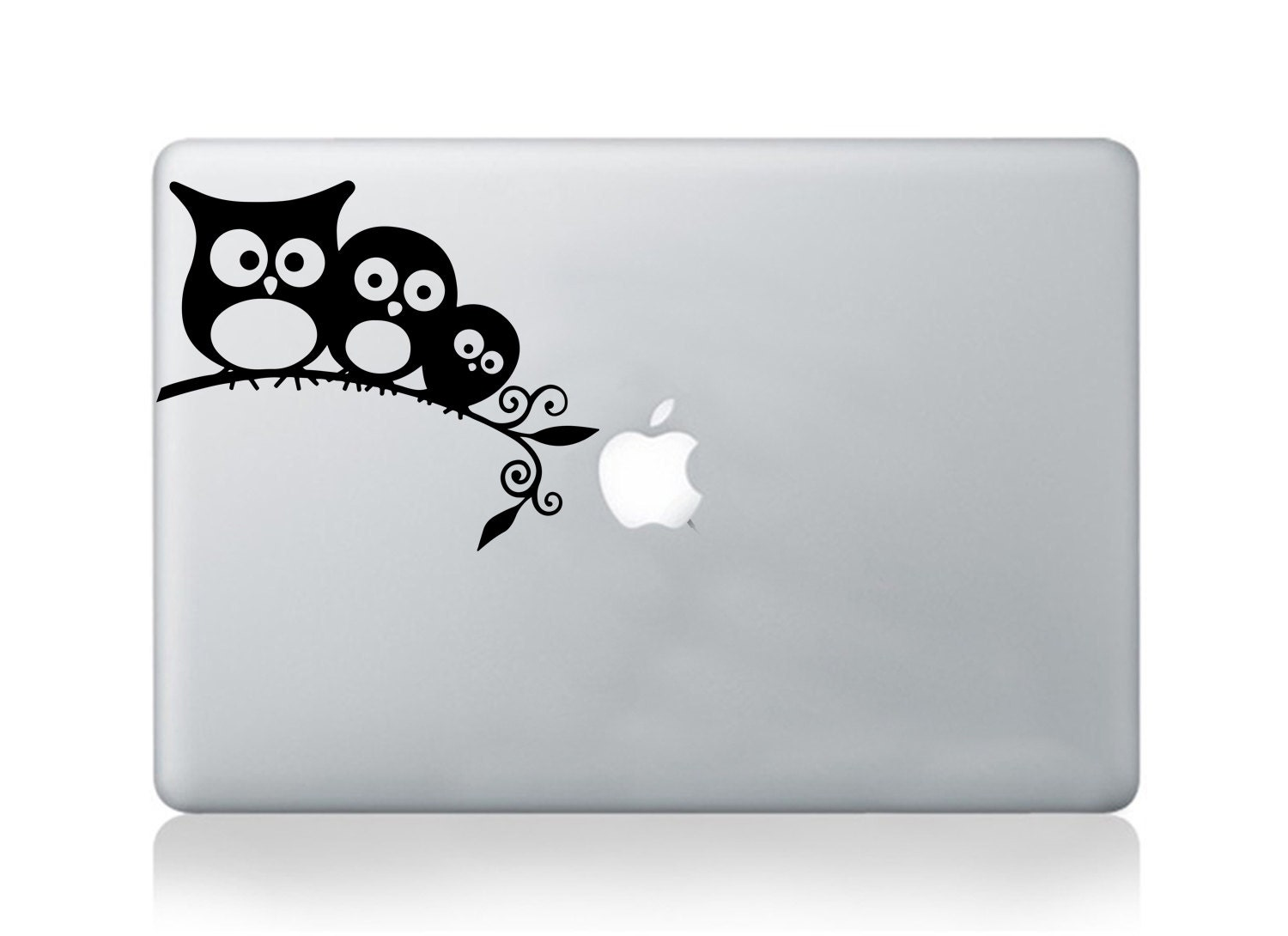 Macbook pro air cute owl vinyl sticker inspirational bird decals mural transfer graphic laptop notebook skin Asus HP Toshiba Dell decal