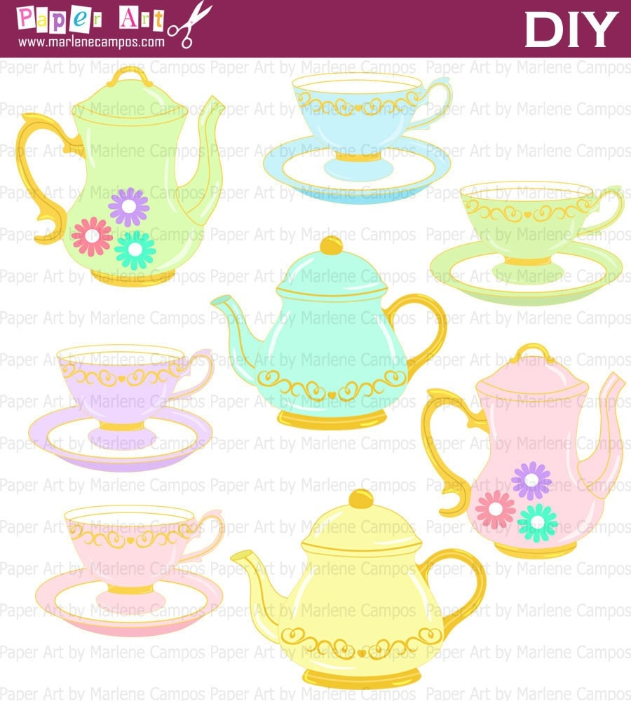 alice in wonderland teapot clip art