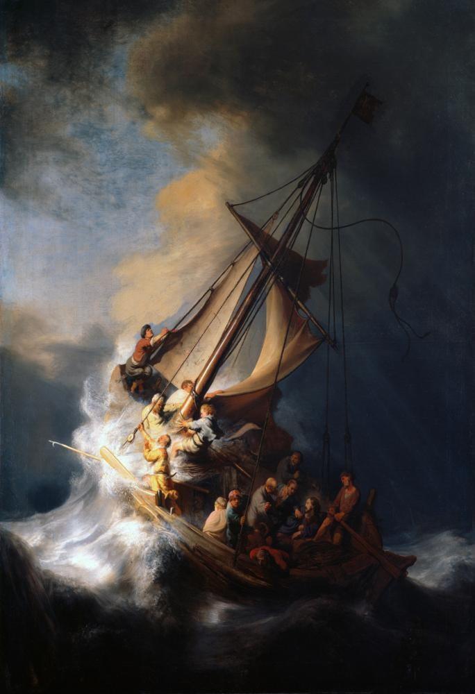 The Storm on the Sea of Galilee Digital Art Print - FalstaffTrading