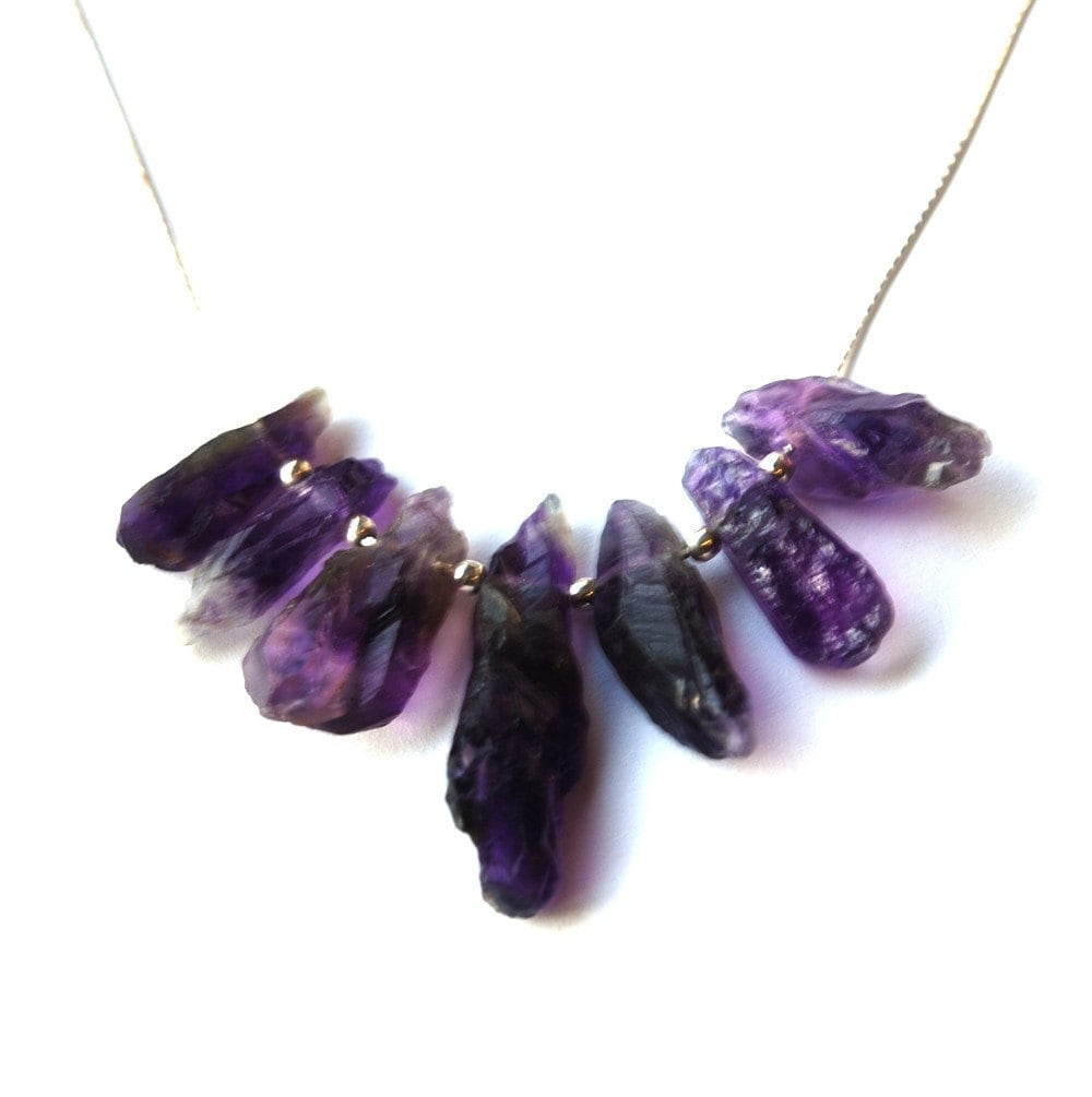 amethyst stone necklace - photo #13