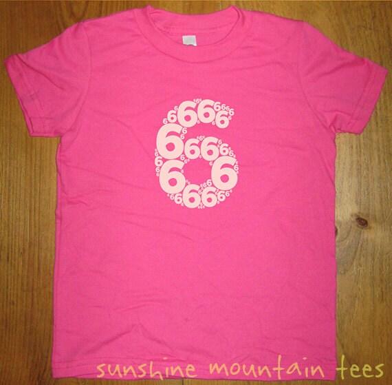 Birthday Shirt 6 Year Old Shirt 6th By Sunshinemountaintees