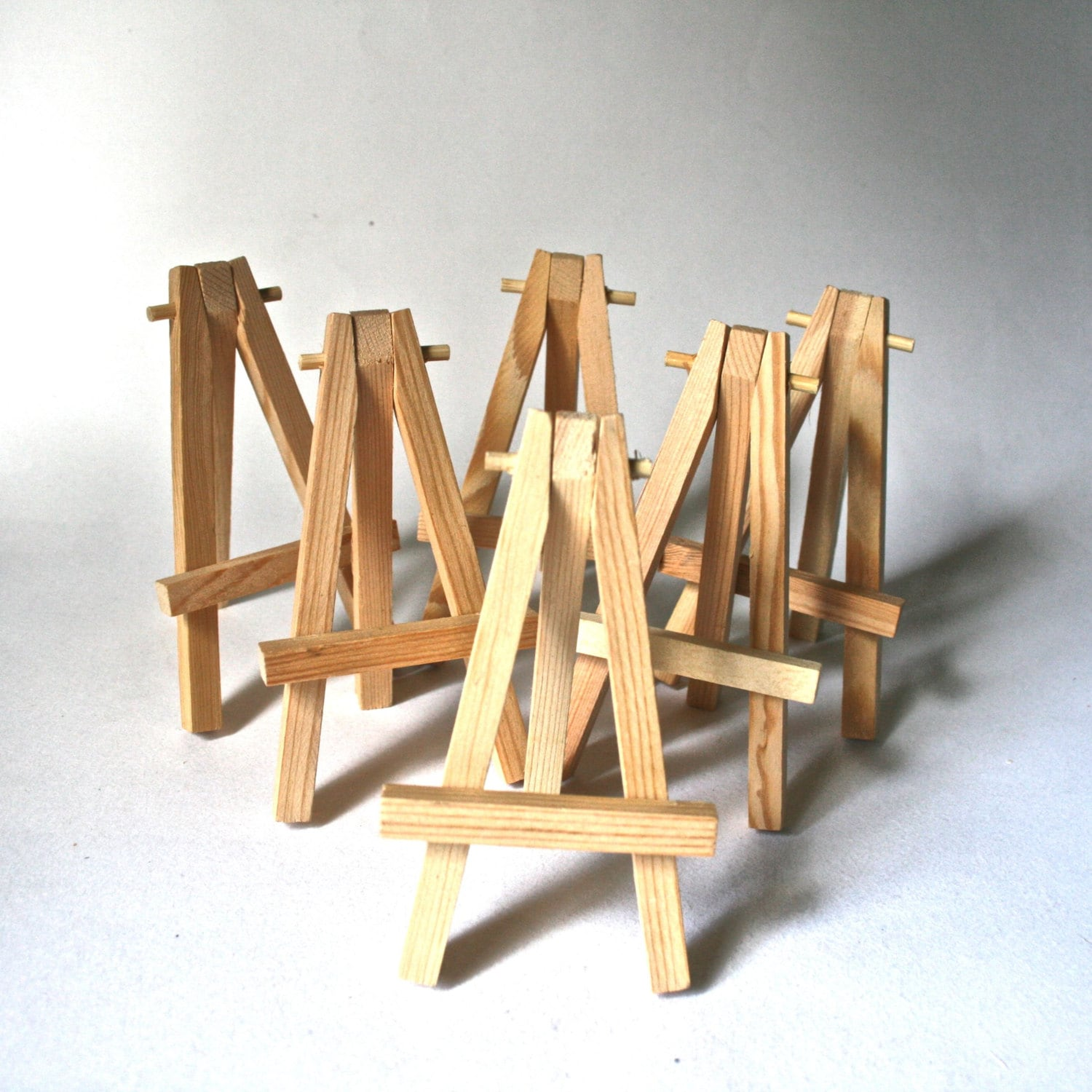 Six Small Wooden Easels For Atc Aceo Mini By