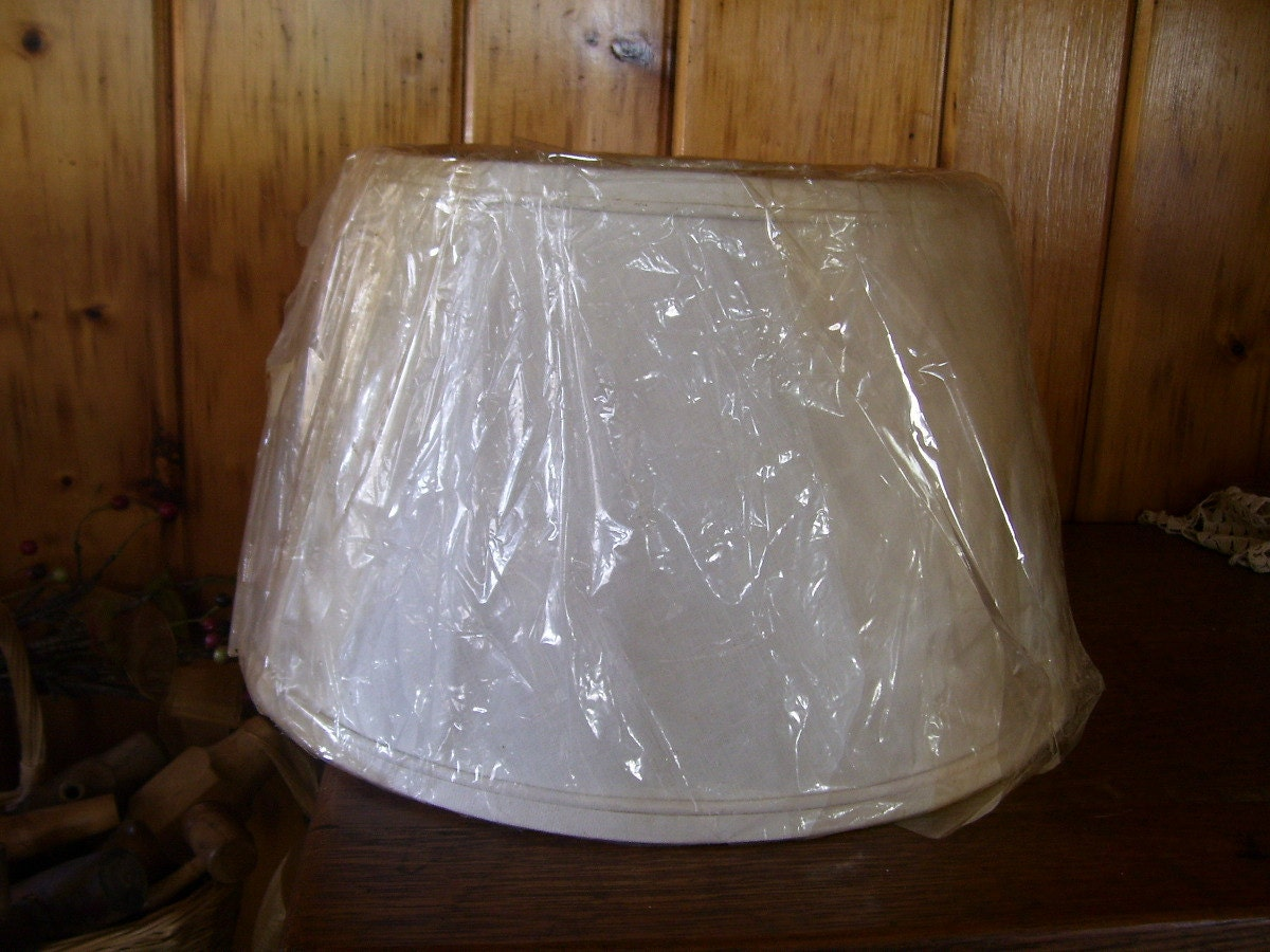 Large Antique Art Deco White Fabric Electric By