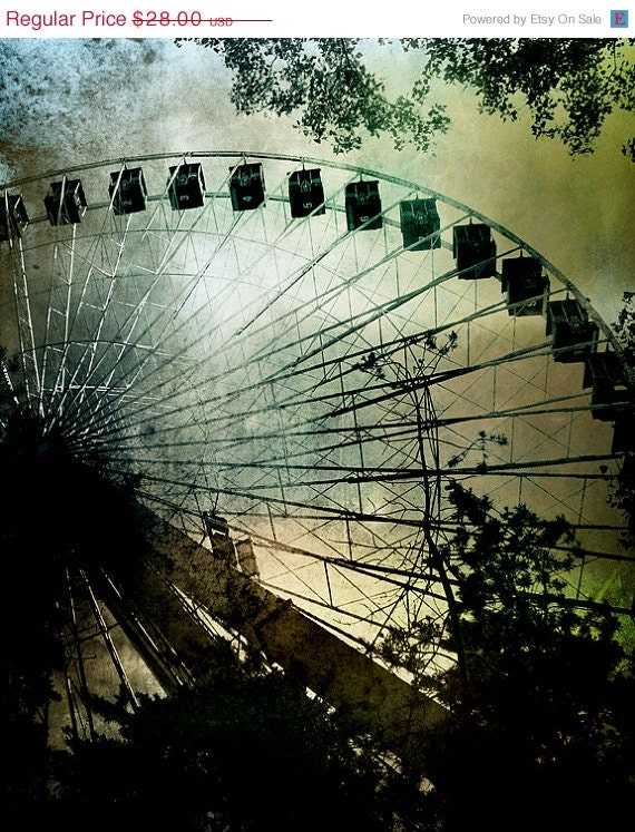 ON SALE Carnival Art Ferris Wheel 8x10 Photo - The Quest for Wonder