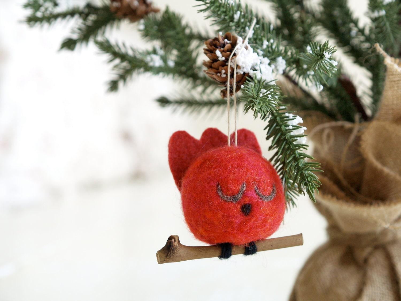 Christmas Tree Decorations Bird : Rustic owl pine cone ornament christmas