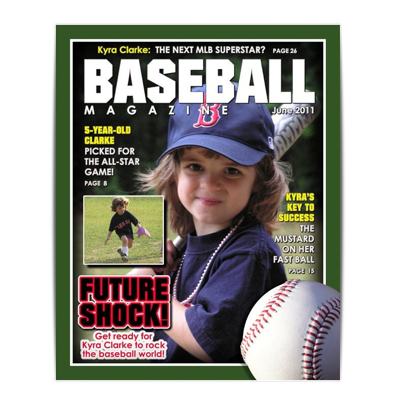 sports designs baseball magazine cover easy to use by ashedesign
