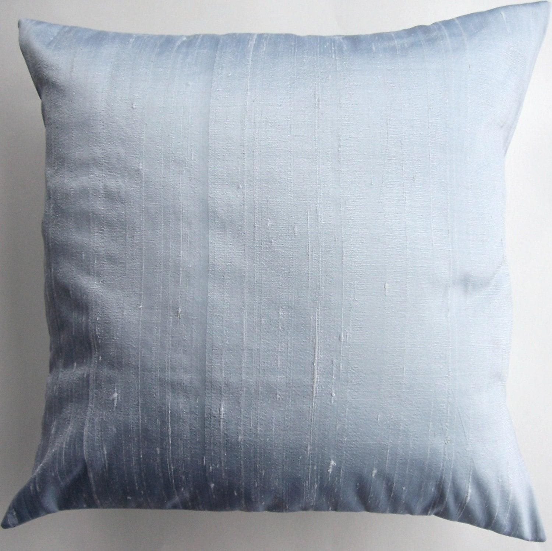 Blue Silk Throw Pillow Ice Blue Simply Silk by sassypillows