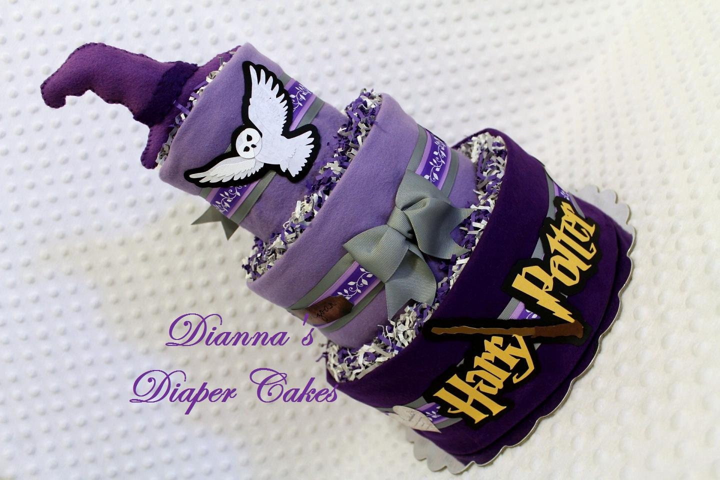 harry potter baby diaper cake custom order t jensen shower gift or