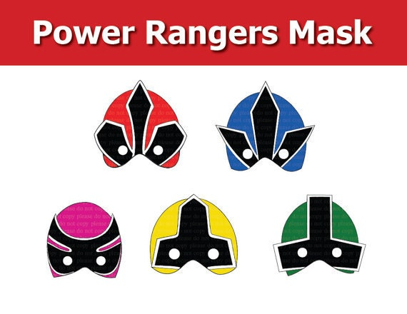 Bewitching image for power ranger mask printable
