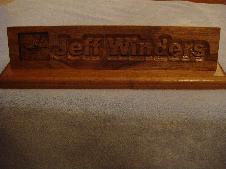 Items similar to Custom 12 inch long carved Desk name