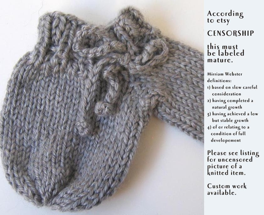 Steel Gray Willie Warmer Knitted Accessory for by goldiesknits
