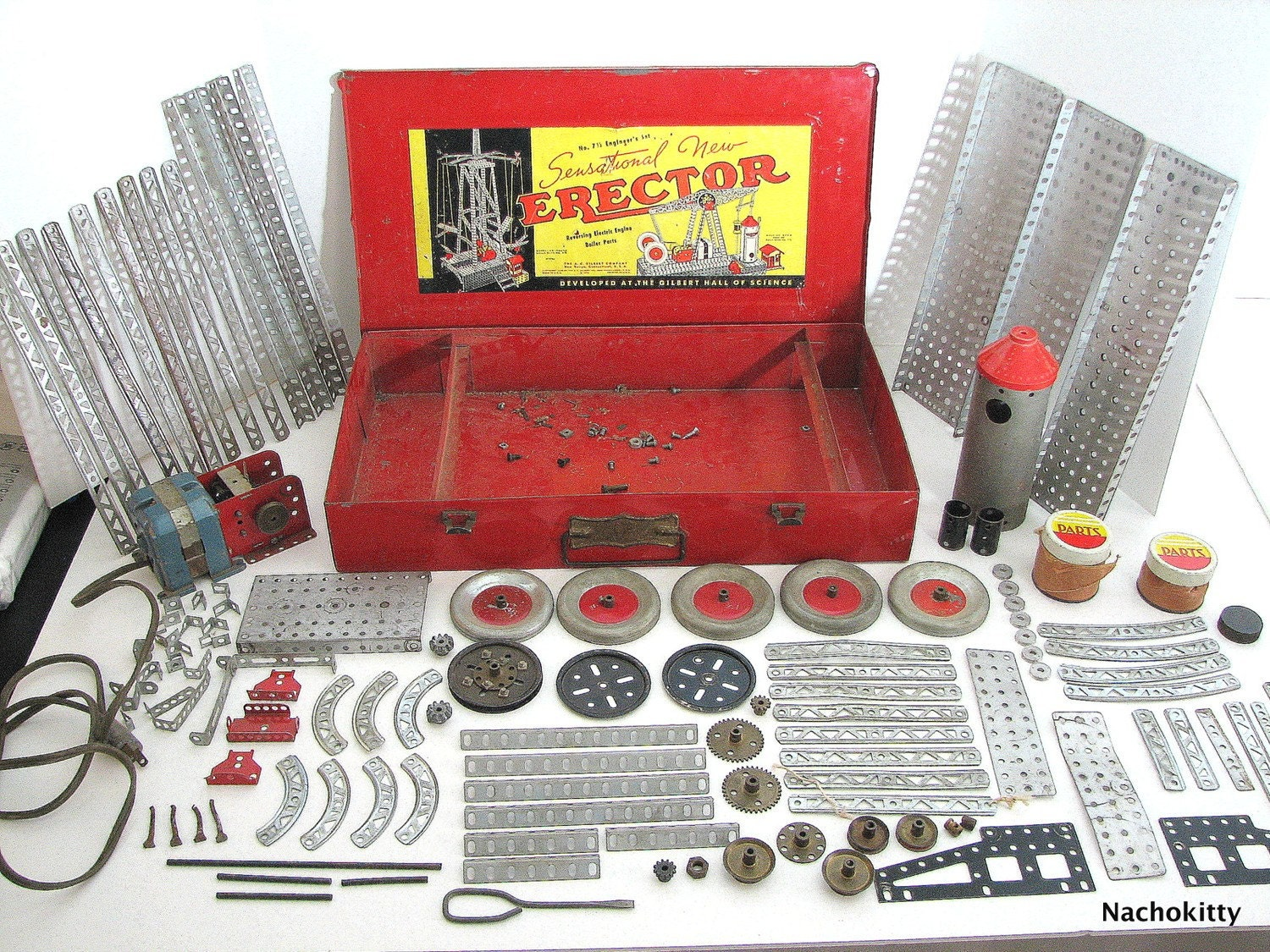 Vintage Toy 1938 Erector Set Engineers 7 and a Half by Nachokitty