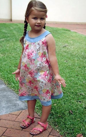 Little Ellie Round Collar Yoke Neck Dress INSTANT DOWNLOAD PDF Sewing Pattern Toddlers and Girls Sizes 1, 2 - 3, 4 - 5, 6 - 7 and 8