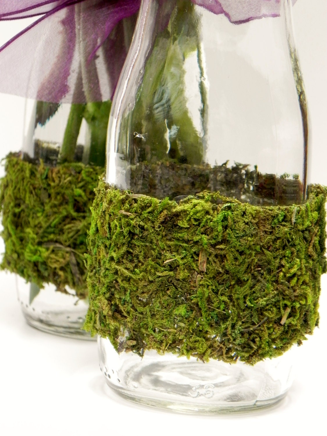 Moss Covered Bottles - ForeverBouquet