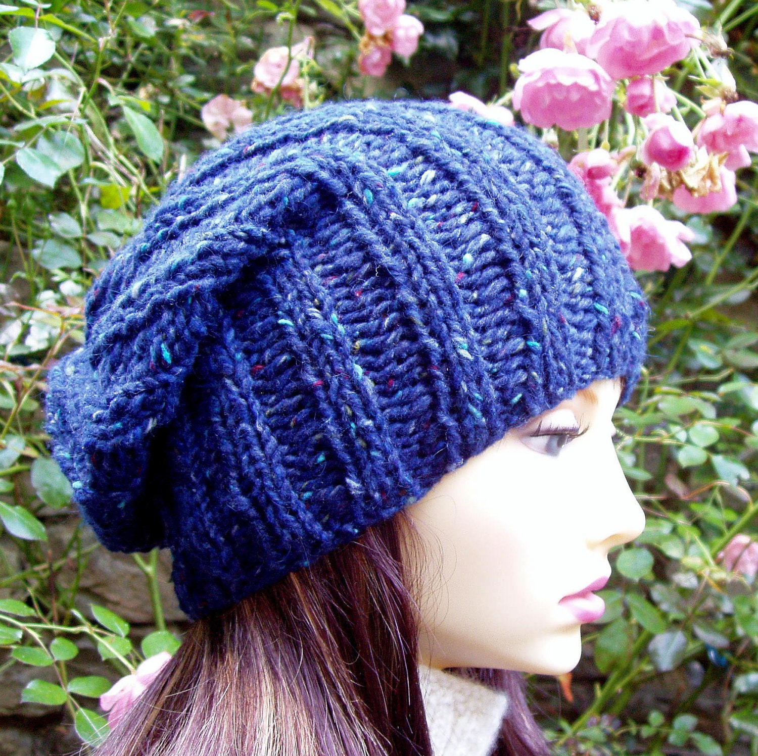 Knitting A Hat In The Round With Double Pointed Needles : Items similar to beanie knitting pattern for seattle