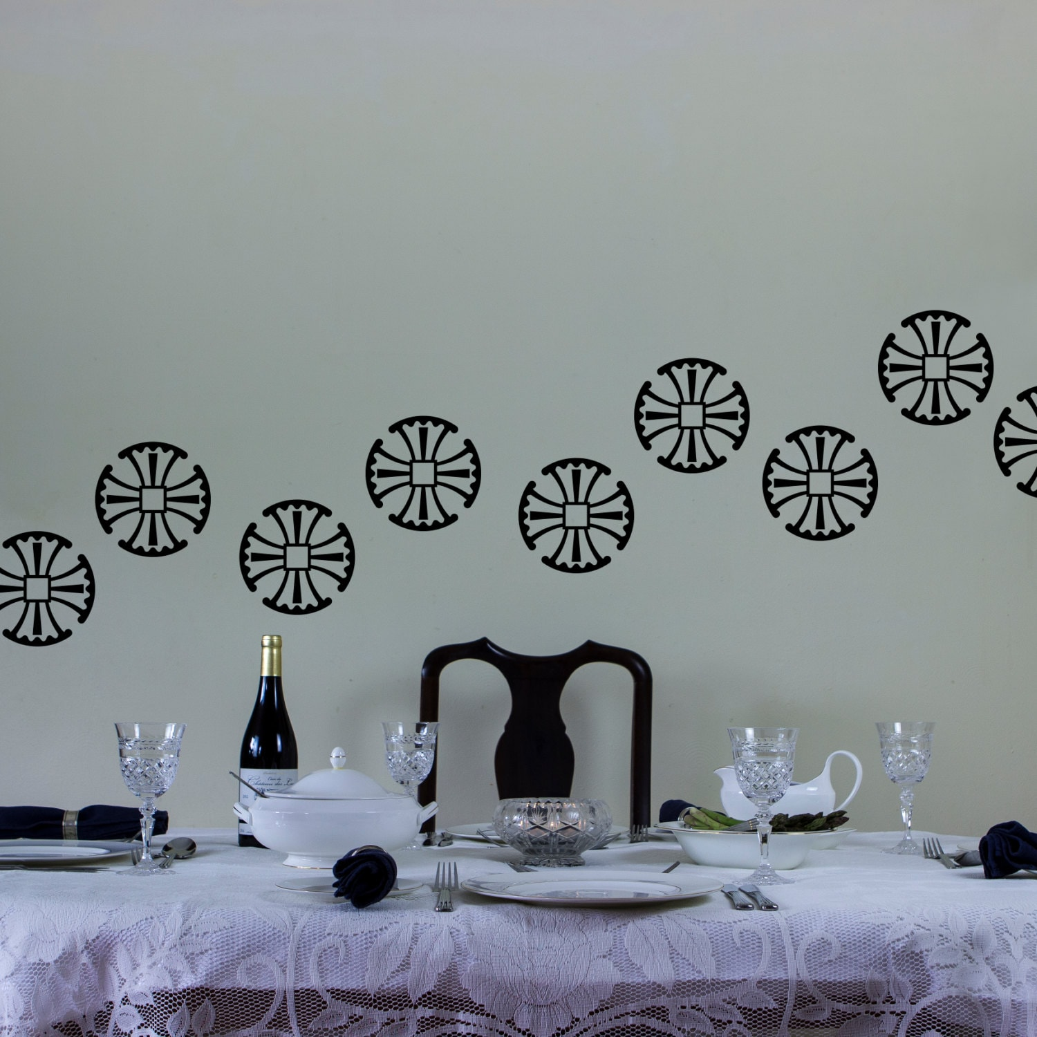 Fan Cross Wall Art Decal Pack