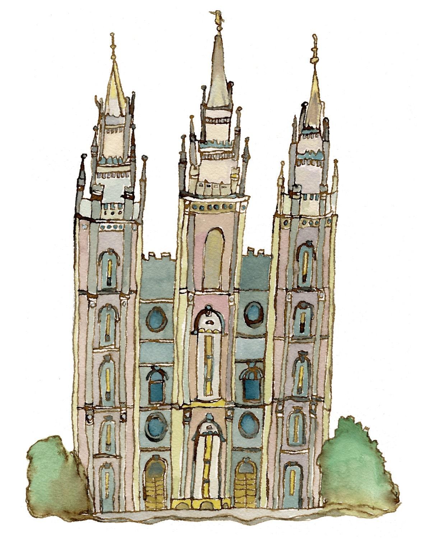 Salt Lake LDS Temple, 5x7