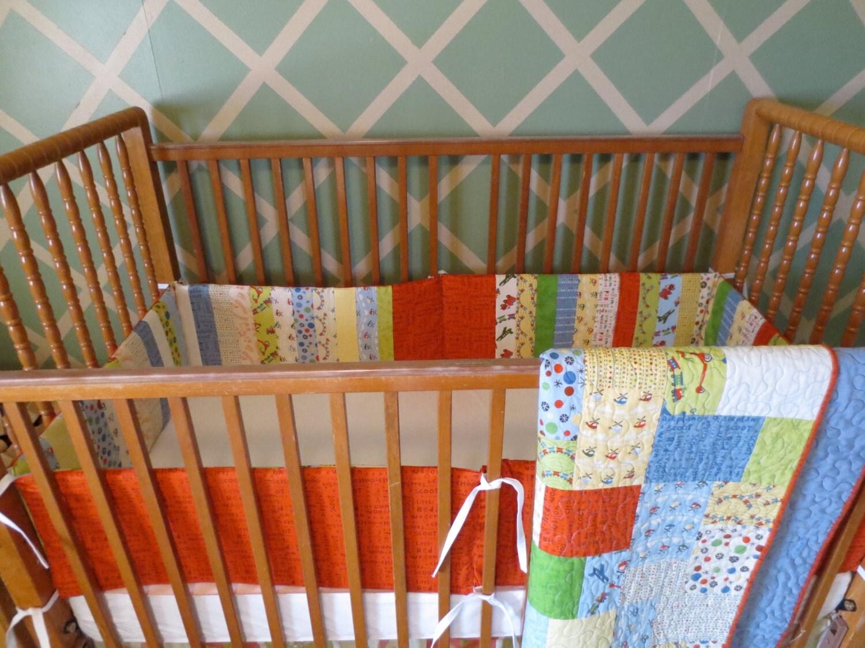 Baby Boy Crib Bedding Set On Etsy
