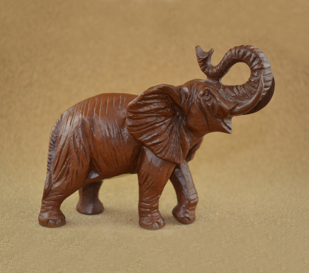 Red Mill Mfg Elephant Figurine Made From Crushed By