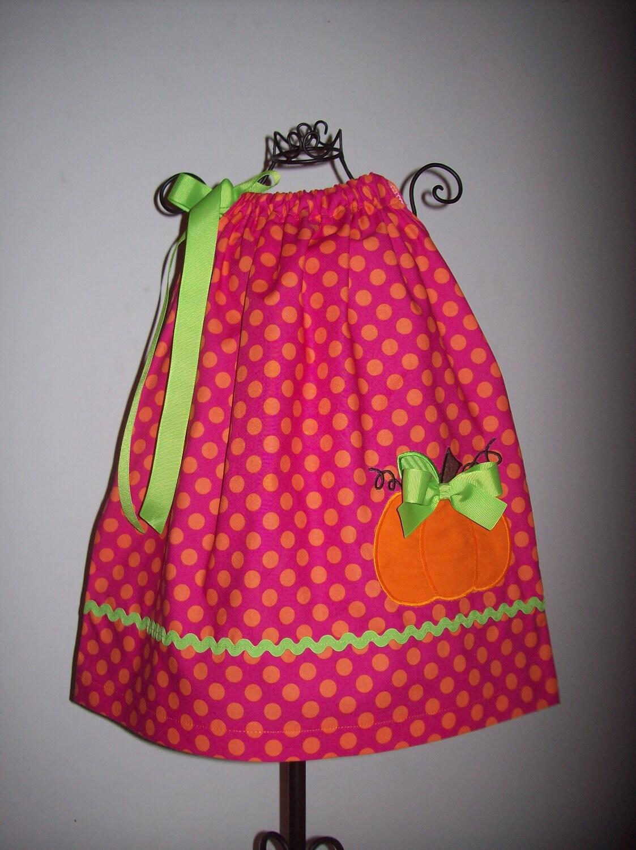 Pumpkin Pillowcase Dress Perfect for Fall or Thanksgiving - molliepops