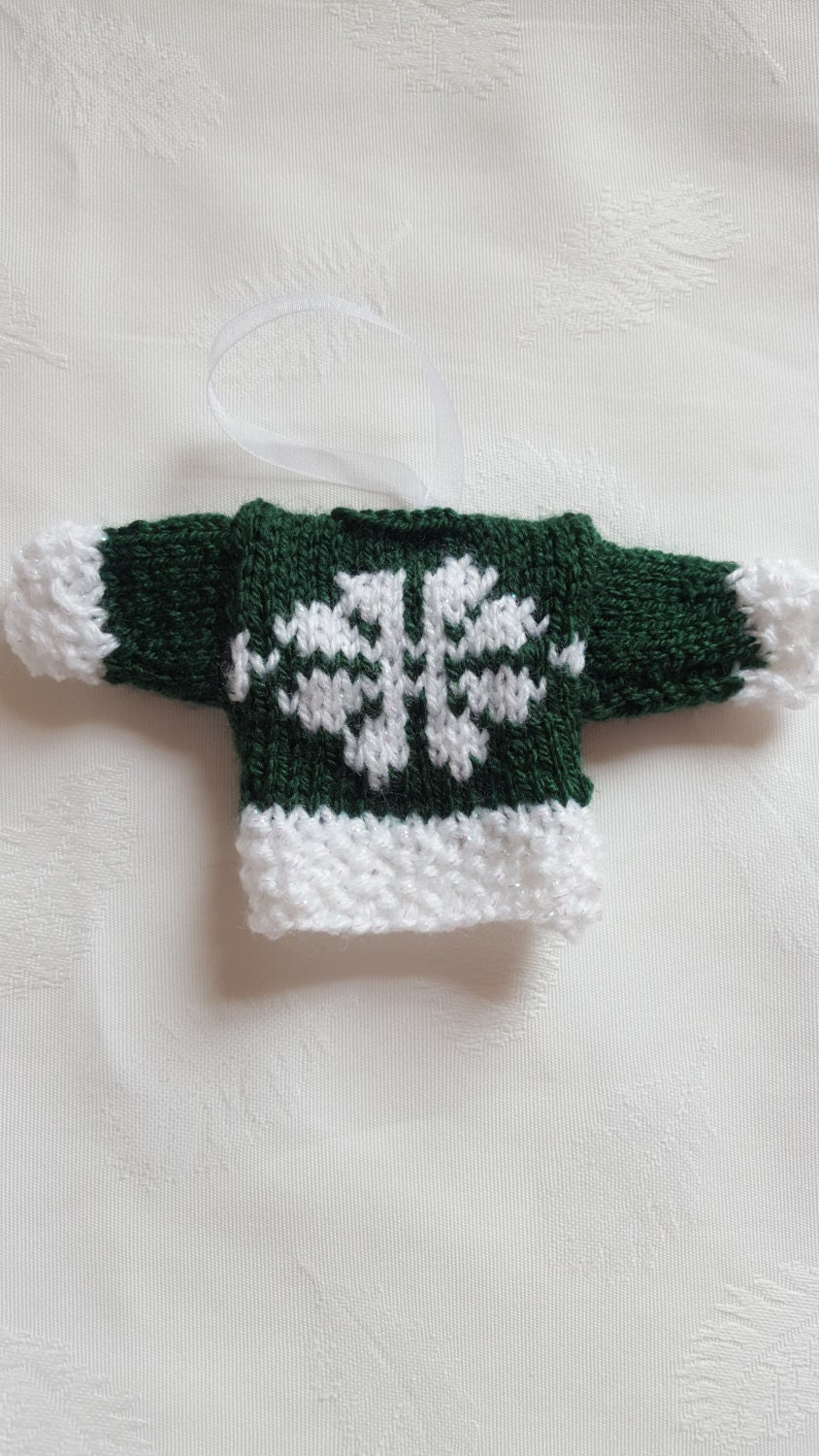 Knitted Mini Jumpers Christmas tree ornament Christmas tree accessory stocking stuffer handmade snowflake jumper